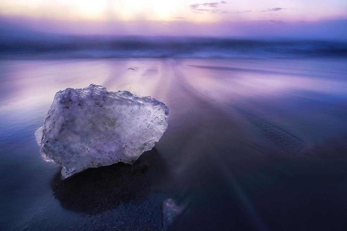 北海道绝景1 — 十胜・大津海岸的宝石冰块